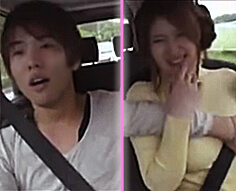 【一徹】彼氏とドライブデート♥…って運転の途中なのに彼から身体を触られまくってそれどころじゃなくなっちゃう!!♡